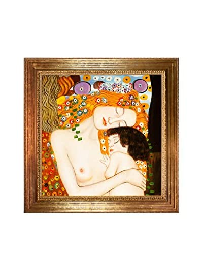 Gustav Klimt's Le Tre Eta Della Donna Framed Hand Painted Oil On Canvas, Multi As You See