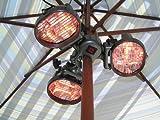 Garden Comfort HL-E46-3A Infrared Umbrella Pole Mounted Heater