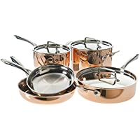 8-Piece Cuisinart Tri-Ply Copper Cookware Set