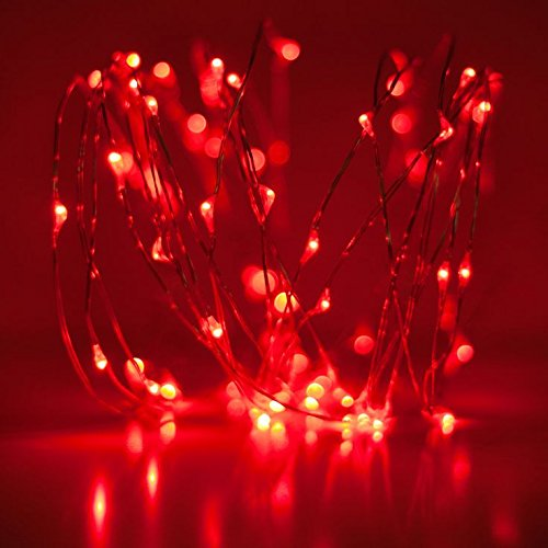3M 30 LEDs 3xAA Battery Copper String Micro LED Decorative Lights For Diwali Christmas Decoration (RED)