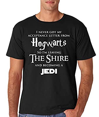 AW Fashion's Hogwarts Harry Potter Star Wars Jedi Inspired Funny Slogan Premium Men's T-Shirt