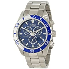 Invicta Men's 12445 Pro Diver Chronograph Blue Textured Dial Watch