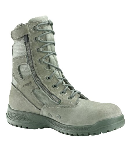 Belleville Mens Hot Weather Tac Side Zip Steel Toe Boots Sage Green 610ZST (Side Zip Sage Green compare prices)