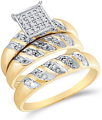 His And Hers Wedding Rings Cheap