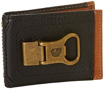 carhartt men 39 s long neck wallet with bottle opener money clip black tan one size at amazon men. Black Bedroom Furniture Sets. Home Design Ideas