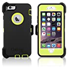 OtterBox Defender Series Case & Holster for Apple iPhone 6 4.7 (Midnight Glow) - Citron Green / Black