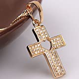 Dream4girls Mens or Womens 18k Gold Plated Necklace Christ Cross Pendant Necklace Chain Jewelry