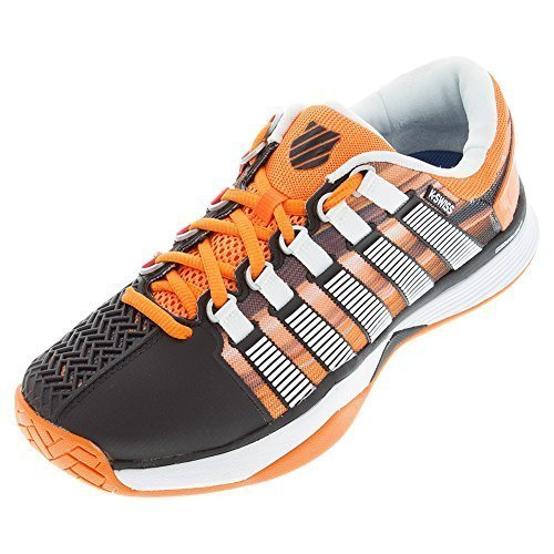 K-Swiss HyperCourt Tennis Sneaker Shoe - Black / Vibrant Orange / Graphic Print - Mens - 10.5