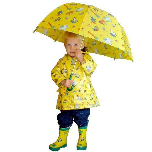 Pluie Pluie Yellow Safari Print Unlined Raincoat by Pluie Pluie