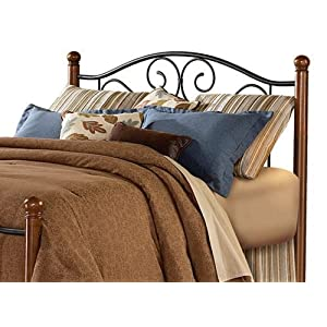 Doral Matte Black/Walnut Queen Headboard Only Fashion Bed Group B92275
