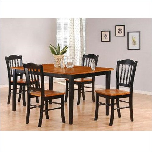 boraam 80536 5 piece shaker dining room set black cherry furnitures