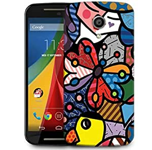 Snoogg Multicolor Butterfly Designer Protective Phone Back Case Cover For Motorola G 2nd Genration / Moto G 2nd Gen