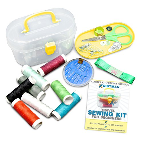 Kristman Beginners Travel Sewing Kit with Portable Case Has All the Supplies You Need (Sewing Machines For Young Girls compare prices)