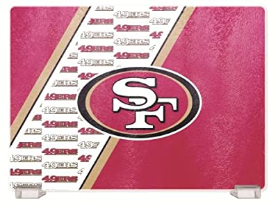 NFL San Francisco 49Ers Glass Cutting Board