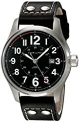 Hamilton Men's H70615733 Khaki Officer Black Dial Watch