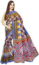 Evila Women's Cotton Saree (RSE-134, Multi)