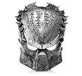 Horrible Half Face Movie Predator Trick Fake Metal Mask for Halloween-Half Face, Fake Metal, Predator Mask - (Premium Quality)