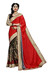 coolwomen women's chiffon embroidered free size fancy saree-cw_NMD2A214_red_free size