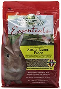 Oxbow Bunny Basics Adult Rabbit Food (Timothy Based), 5-Pound Bag
