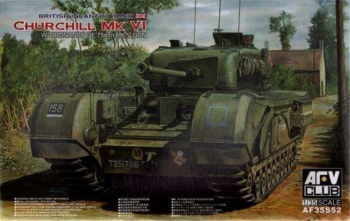 AFV Club AF35S52 Churchill VI 75mm 1:35 Plastic Kit