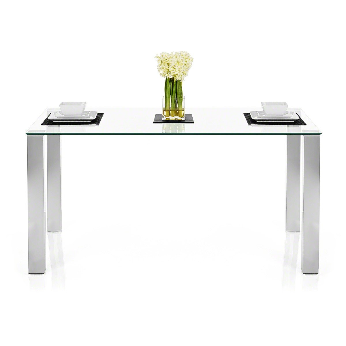 Chester Clear Glass Dining Table       reviews and more information