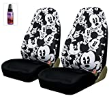 New Design Disney Mickey Mouse Car Seat Covers Floor Mats Steering Wheel Cover Accessories Set with Travel Size Purple Slice
