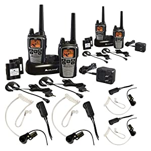 Midland GXT860VP4 42-Channel GMRS Two-way Radio w/ 2-Pairs of Radios & Transparent Headsets