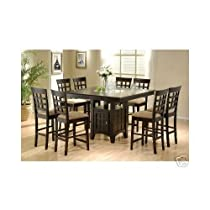 Hot Sale Counter Height Dining Table and Chairs with Lazy Susan