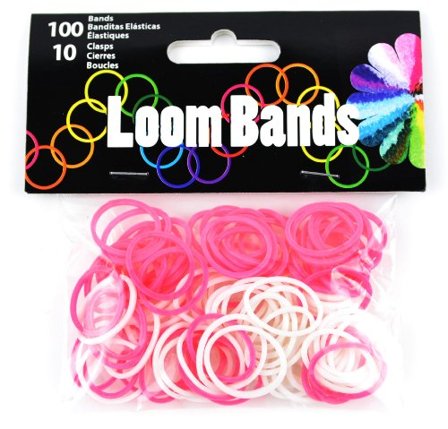 Touch of Nature 110-Piece Loom Bands, Pink/White Assortment