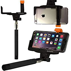 OPTIKAL SelfiePAL Wireless Bluetooth Remote Shutter Stick with Mount Clamp for Various Devices (iPhone 6, 6 Plus, 5, 5S, Note 4, 3, HTC One) - Black
