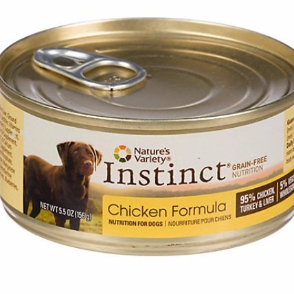 Nature's Variety Instinct Grain-Free Canned Dog Food 5.5 oz. Chicken Case of 12 (Instinct Canned Chicken Dog Food compare prices)