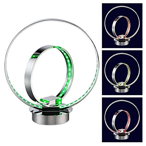 Double Ring Color Change Accent Led Table Lamp