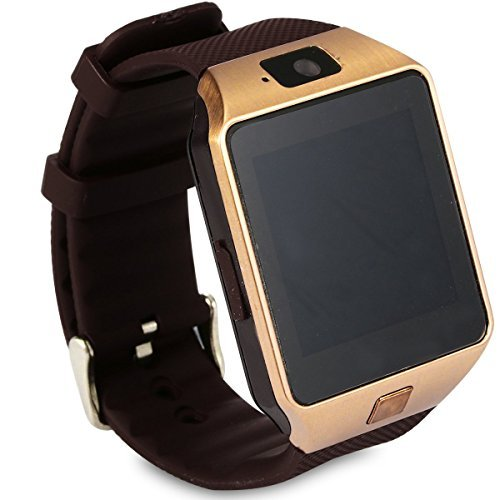 XCSOURCE 2015 Hot Smart Watch DZ09 Orologio da Polso Intelligente con Bluetooth 3.0 e Telecamera Touchscreen per Apple/iOS, Samsung /Android, HTC. Supporta Orologio Smartphone Sport SMI/TF (Marrone) AC256