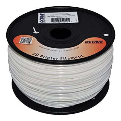 Octave White ABS Filament for 3D Printers - 1.75mm 1kg Spool