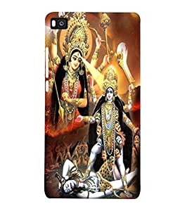 Fuson 3D Printed Lord Durga & Kali Designer Back Case Cover for Huawei Honor P8 - D503