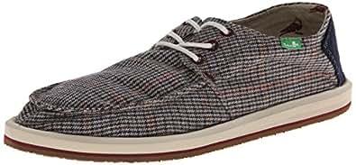 Sanuk Men's Drewby Dropout Boat Shoe,Charcoal,7 M US