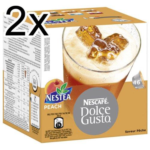 Nescafé Dolce Gusto Nestea Iced Tea Peach, Pack of 2, 2 x 16 Capsules