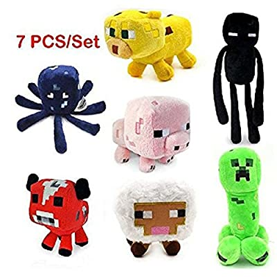 Enderman Creeper Mooshroom Pig Ocelot Sheep Squid Game Overwold Soft Plush Toys Kit Stuffed Aminal Dolls by sandweek