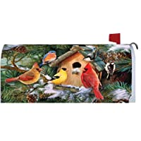 Pine Tree Birds 1719MM Magnetic Mailbox Cover Wrap