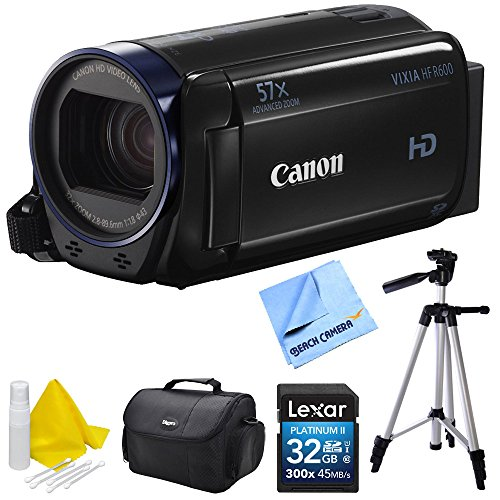 Big Save! Canon Vixia HF R600 High Definition Camcorder Deluxe Bundle - Black