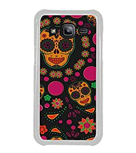 Colourful Skull Wallpaper 2D Hard Polycarbonate Designer Back Case Cover for Samsung Galaxy J2 J200G (2015) :: Samsung Galaxy J2 Duos :: Samsung Galaxy J2 J200F J200Y J200H J200GU