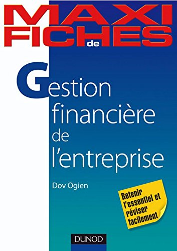 Maxi fiches de Gestion financière de l'entreprise