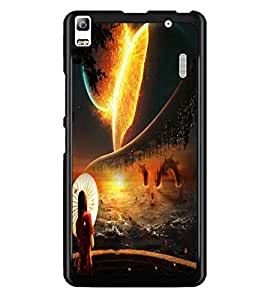 PrintDhaba Abstract Image D-4343 Back Case Cover for LENOVO A7000 TURBO (Multi-Coloured)