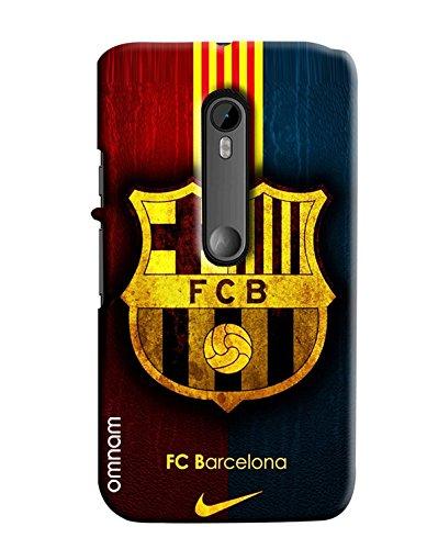 low priced 27007 e1435 Omnam Fc Barcelona Printed Printed Designer Back Cover Case For Motorola  Moto G3