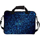 """Snoogg Abstract Blue Patterned 14"""" 14.5"""" 14.6"""" Inch Laptop Notebook SlipCase With Shoulder Strap Handle Sleeve..."""
