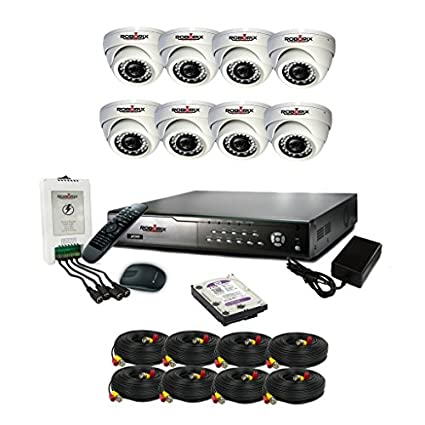 ROBORIX 8D-HD1WK 8-Channel Dvr, 8(720P) Dome CCTV Cameras (With Accessories)