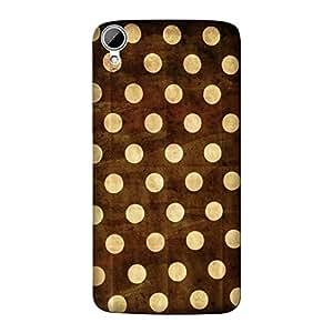 Wrapit Pattern Golden Polka Hard Back Case Cover For HTC Desire 821