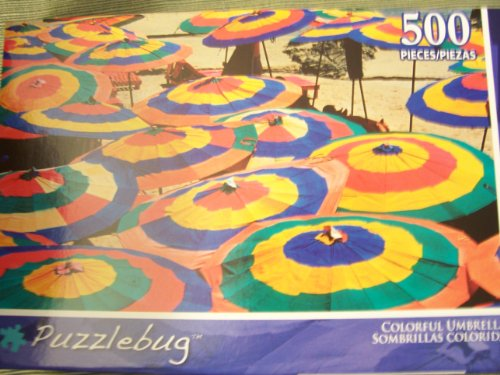 Puzzlebug 500 Piece Puzzle ~ Colorful Umbrellas