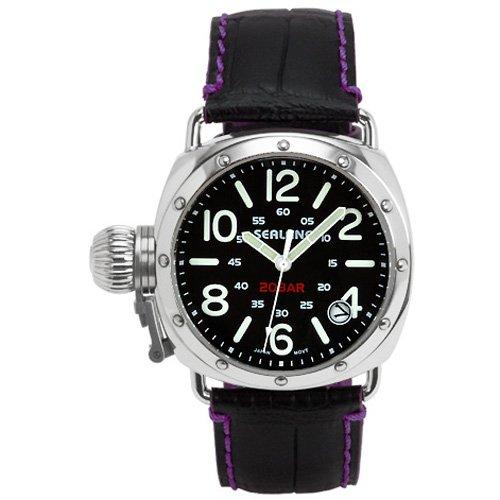 [シーレーン]SEALANE 腕時計 20BAR 牛本革型押しストラップ SE36-LPU メンズ