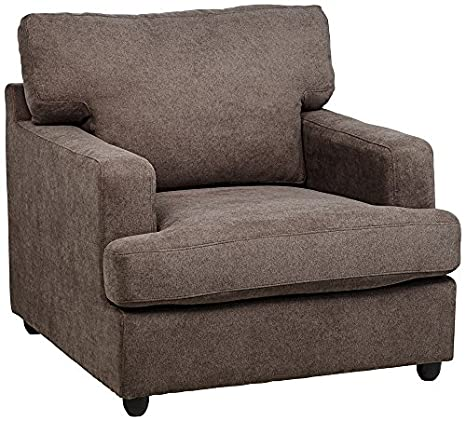 Klaussner Mayor Railway Granite Microfiber Armchair